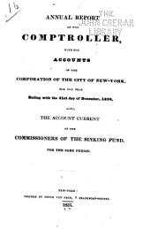 Consolidated Annual Report of the Comptroller of the City of New York for the Fiscal Year ...: Volume 1834