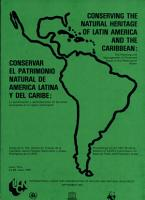 Conserving the natural heritage of Latin America and the Caribbean PDF