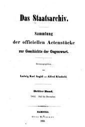 Das Staatsarchiv: Volume 3