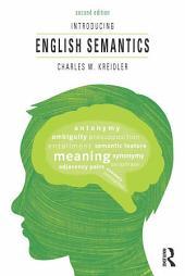 Introducing English Semantics: Edition 2