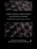 Public Service Employment Relations in Europe PDF