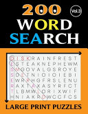 200 WORD SEARCH LARGE PRINT PUZZLES (Vol.3)