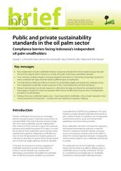 Public and private sustainability standards in the oil palm sector: Compliance barriers facing Indonesia's independent oil palm smallholders