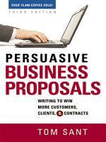 Persuasive Business Proposals PDF