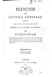 Elementi di chimica generale redatti dal corso annuale che si da' nella R. Universita' di Padova di G. Melandri ... Volume 1. \-2.!: Volume 2