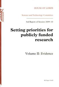 Setting priorities for publicly funded research