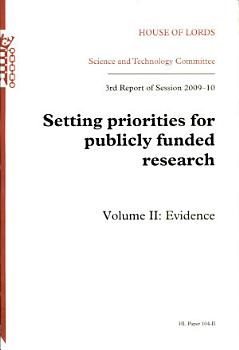 Setting priorities for publicly funded research PDF