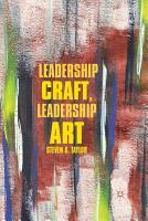 Leadership Craft  Leadership Art PDF