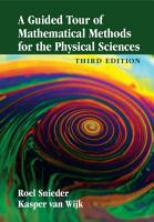 A Guided Tour of Mathematical Methods for the Physical Sciences PDF