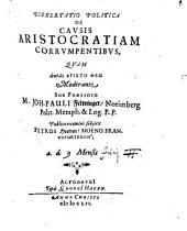 Diss. polit. De Causis Aristocratiam Corrumpentibus