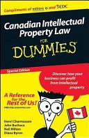 Custom Canadian IP Law for Dummies PDF