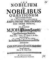 Nobilium de nobilibus quaestionum quaternarius