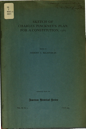 Sketch of Charles Pinckney's Plan for a Constitution