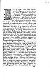 Eu A Rainha. Faço saber: Que havendo-se estipulado no Artigo Quarto do Tratado de Amizade, Navegação, e Commercio ultimamente concluido entre esta Corte, e a de Petersburgo, que os Consules, ...