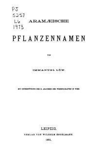 Aram  ische Pflanzennamen PDF