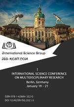 I INTERNATIONAL SCIENCE CONFERENCE ON MULTIDISCIPLINARY RESEARCH