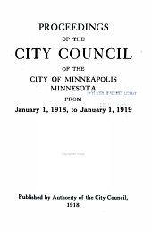 Proceedings of the City Council of the City of Minneapolis: Volume 44