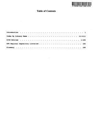 Criminal Justice Information Exchange Directory PDF