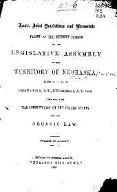 Laws, Joint Resolutions and Memorials Passed at the ... Session of the Legislative Assembly of the Territory of Nebraska: Volume 7