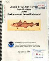 Alaska Groundfish Harvest Specifications PDF
