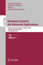 Database Systems for Advanced Applications: 15th International Conference, DASFAA 2010, Tsukuba, Japan, April 1-4, 2010, Proceedings, Part 2
