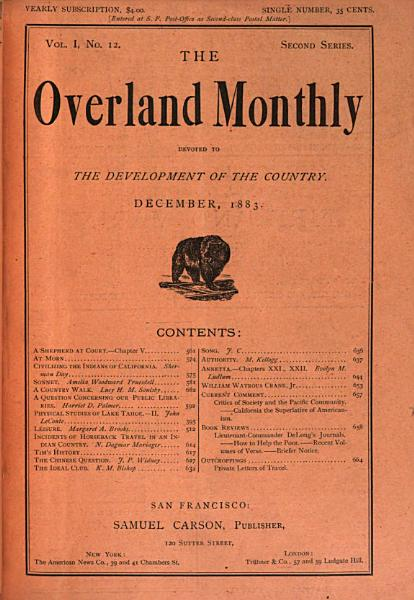 Download The Overland Monthly Book