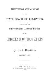 Annual Report of the Board of Education: Volume 22