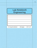 Lab Notebook Engineering 4 X 4 Quad Numbered