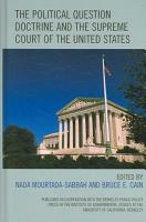 The Political Question Doctrine and the Supreme Court of the United States PDF