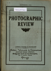 Photographic Review: A Journal Devoted to Photography, Volume 24, Issue 9