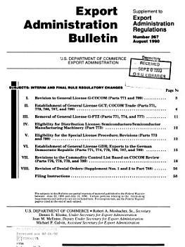 Export Administration Bulletin PDF