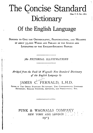 The Concise Standard Dictionary of the English Language