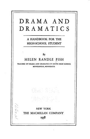 Drama and Dramatics PDF