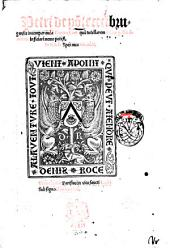 Petri de Ponte Ceci Brugensis Incomparanda Genouefeum quam tutellarem totius Gallie dominam inficiari nemo potest