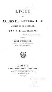 Histoire, philosophie et littérature mêlée [suite