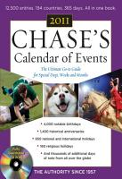 Chase s Calendar of Events  2011 Edition PDF