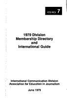 1979 Division Membership Directory and International Guide PDF