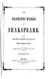 The Dramatic Works of Shakspeare