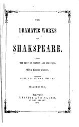 The Dramatic Works of Shakspeare PDF