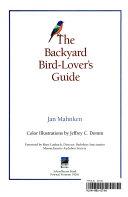 The Backyard Bird lover s Guide PDF
