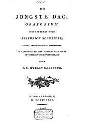 De jongste dag: oratorium