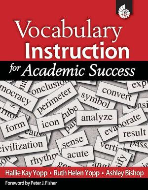 Vocabulary Instruction for Academic Success  ePub 3  PDF
