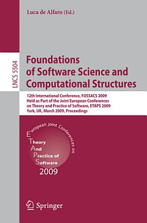 Foundations of Software Science and Computational Structures PDF