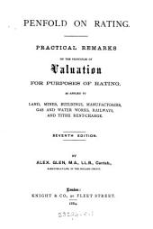 Penfold on rating. Practical remarks [&c.] re-written and extended by J.T. Kershaw and W. Marshall