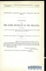 Letter from the Acting Secretary of the Treasury  Transmitting a Report of Contingent Expenses of the Treasury Department for the Fiscal Year Ending June 30  1894 PDF