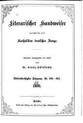 Literarischer Handweiser zunächst für alle katholische Deutschland: Band 35,Ausgaben 639-662