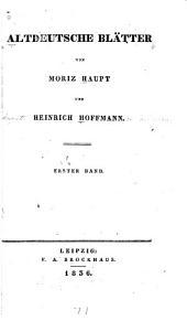 Altdeutsche Blätter: Volume 1