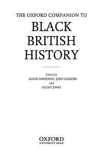 The Oxford Companion to Black British History PDF