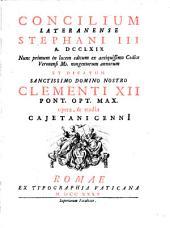 Concilium Lateranense Stephani III: A. 769