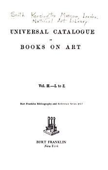 Universal Catalogue of Books on Art  L to Z PDF